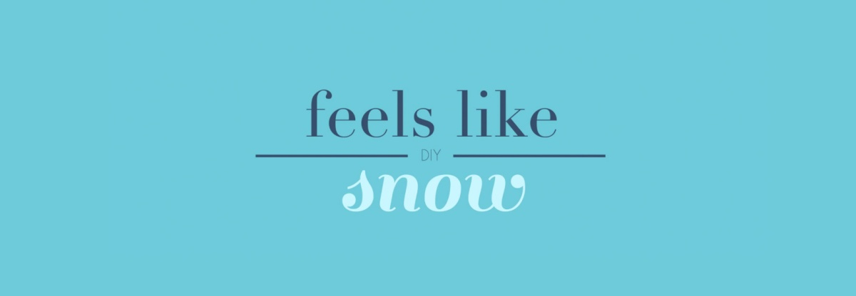 DIY: Winter Deko – feels like snow!