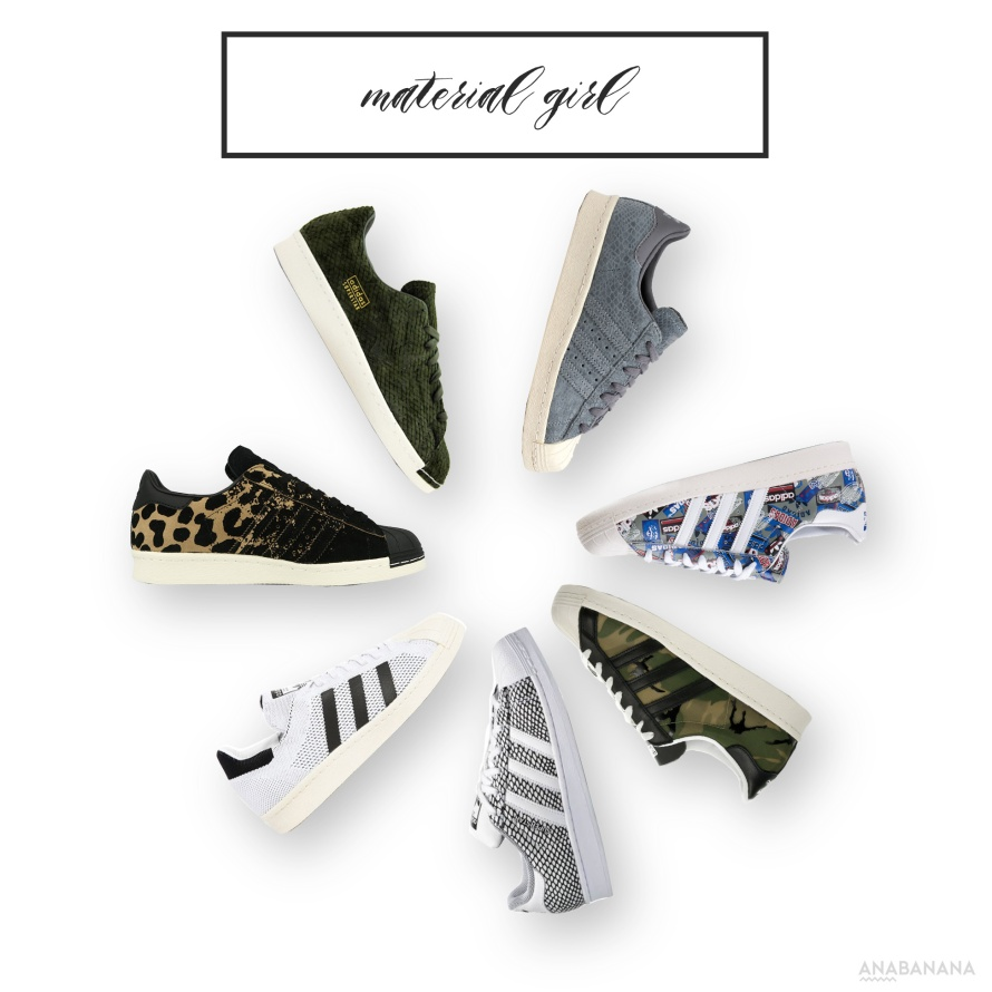 Adidas Superstar Sneaker Material Mix