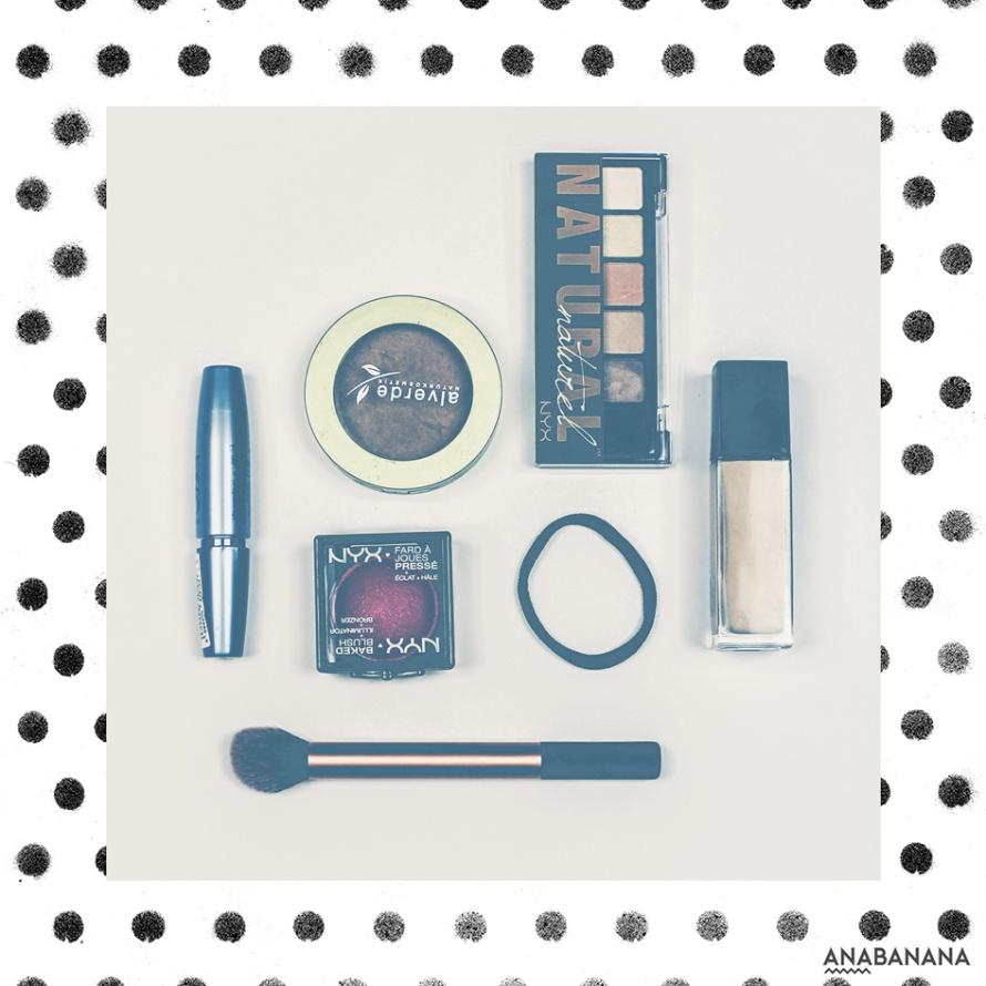 minimalistische Kosmetikauswahl