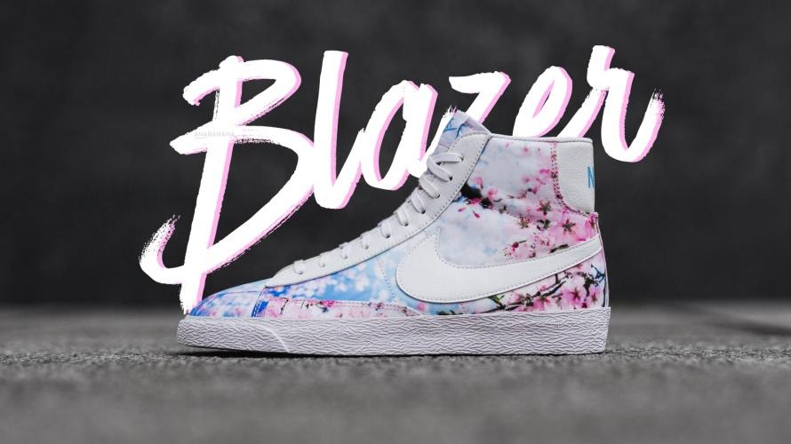 Nike blazer sakura cherry blossom