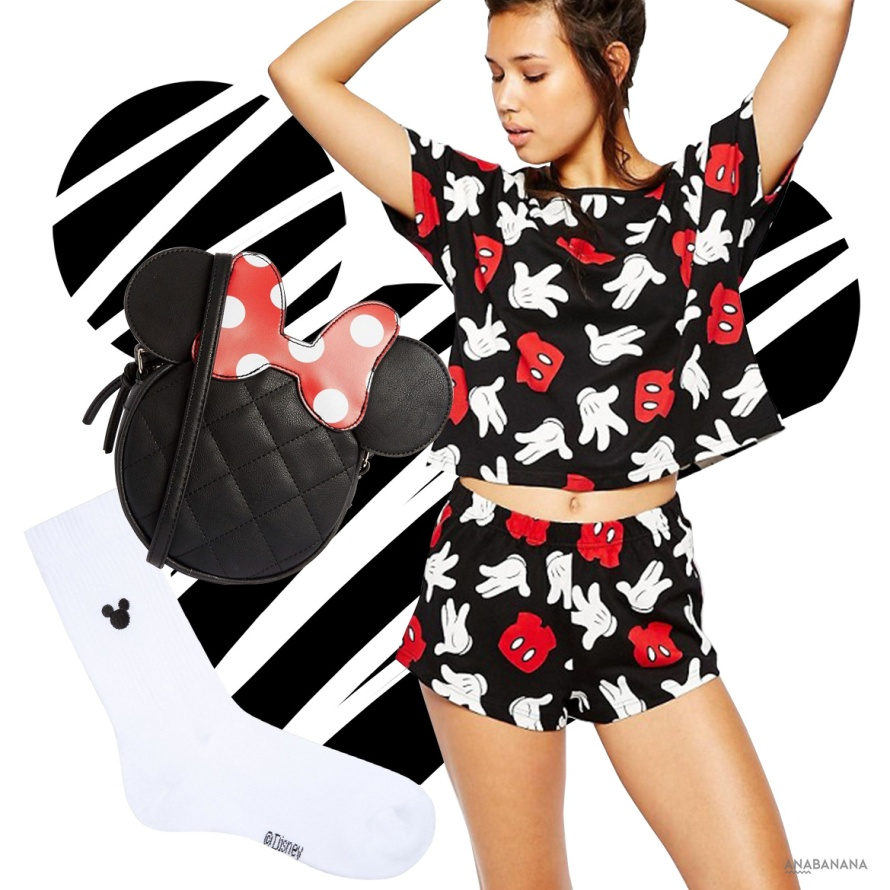 Minnie Mouse Tasche Socke Outfit