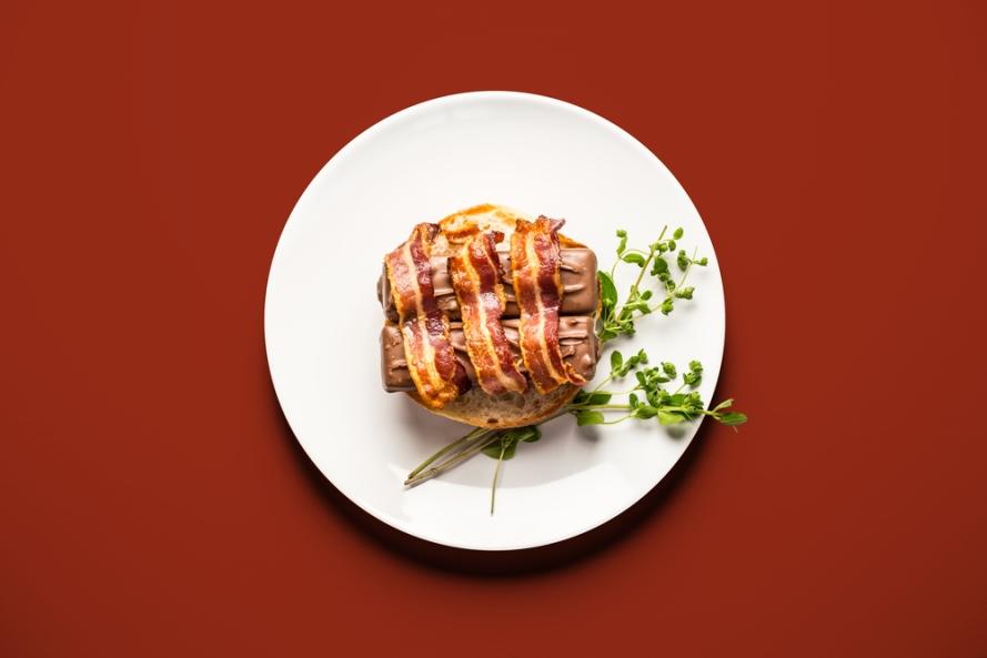 Bacon Mars bar burger