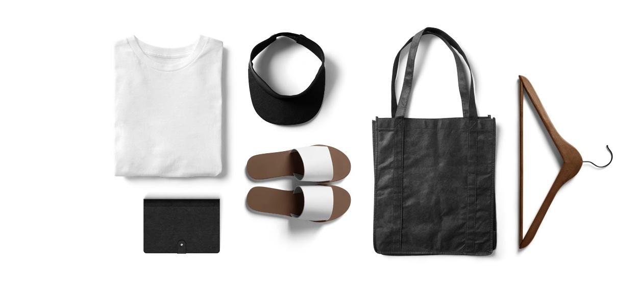 minimalismus Kleiderschrank Bekleidung schwarz weiss Titelbild kleiderschrank Bekleidung schwarz weiss