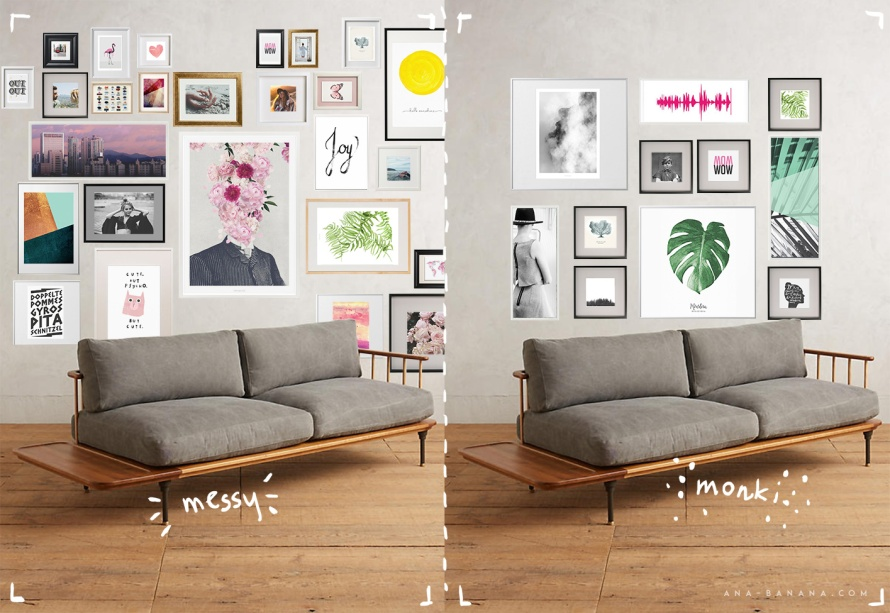 deco inspo freebie bilder und bilderrahmen an die wand anabanana anastasia. Black Bedroom Furniture Sets. Home Design Ideas